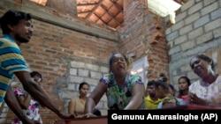 Шри-Ланка, родственники жертв взрывов