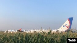 Самолет «Уральских авиалиний» совершил аварийную посадку в Подмосковье