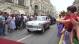 Soviet-Era Cars On Parade In Moscow