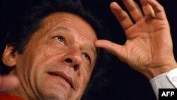 Пакистанский оппозиционный политик бывший игрок в крикет Имран Хан.