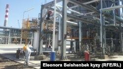 Жаңы ачылган мунай заводу, Кара-Балта шаары, 9-сентябрь, 2013.
