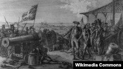 Войска генерала д'Эстена атакуют остров Гренада в 1779 году.