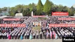 Празднование Международного дня трудящихся в Пхеньяне, 1 мая 2017 года