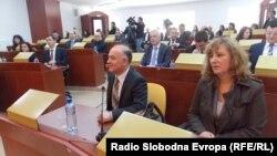 Совет на општина Битола. Градоначалникот на Битола Владимир Талески и претседателката на Советот Силвана Анеѓлевска.