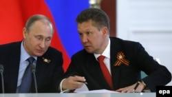 Президент Росії Володимир Путін і голова «Газпрому» Олексій Міллер
