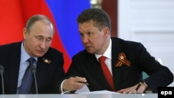 Алексей Миллер ва Владимир Путин