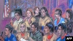 10 подозреваемых в шпионаже в пользу России в суде Нью-Йорка, 8 июля 2010 г.