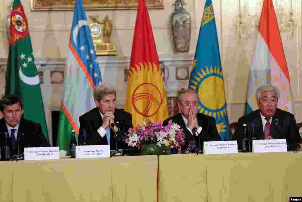 Встреча государственного секретаря США Джона Керри в Вашингтоне с министрами иностранных дел пяти стран Центральной Азии, 3 августа 2016