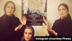 باران کوثری، ستاره اسکندری و الهام کردا، سه بازیگری که با انتشار این عکس در اینستاگرام، به پوستر جشنواره تئاتر اعتراض کردند
