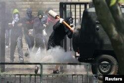 Студенческие волнения в Сантьяго. 18 октября 2011 года