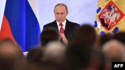 Президент Путин жылдык кайрылуу жасап жатат, 1.12.2016