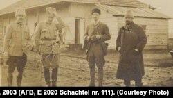 Lt. Curanica, col. Nicolae Stoicescu, căp. Walther v. Stockar, dl Alimăneștianu la Șipote, februarie 1918