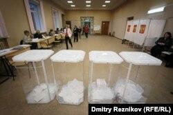 Один из избирательных участков в России