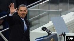 ბარაკ ობამა აშშ-ის პრეზიდენტის ფიცის დადებისას