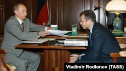 Путин и Абрамович в бытность того губернатором Чукотки