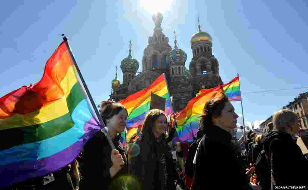 "In 2015, the Russian president said, ""I believe there should not be any... prosecution or infringement of people's rights on the basis of their race, ethnicity, religious or sexual orientation."""