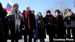 Banorë në qytetin Perm në Rusi
