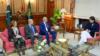 وزیر اعظم عمران خان له زلمي خلیلزاد سره د ملاقات پر مهال.