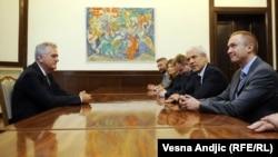 Predstavnici DS-a na razgovorima o vladi sa predsednikom Srbije Tomislavom Nikolićem