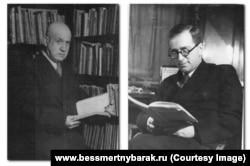 Марк Азадовский и Григорий Гуковский (слева направо)
