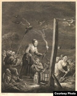 Ведзьмы шукаюць скарб у ноч Івана Купалы (Давід Тэрніс Малодшы 1610–1690)