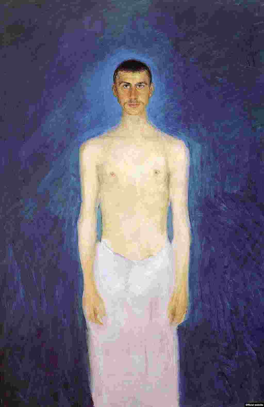 Semi-Nude Self-Portrait, 1902/04, Oil on canvas, 159 x 109 cm, © Leopold Museum, Vienna