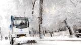 Bishkek - Kyrgyzstan - snow - winter - road - tazalyk - congestion - Traffic Safety Inspectorate - 27.12.2017