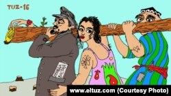Hashar haqida eltuz.com karikaturasi