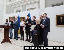Президент України Петро Порошенко під час вручення Шевченківської премії. Київ, 9 березня 2018 року