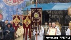 Рождественский молебен в Севастополе