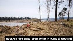 Кладбище в посёлке Шумский после перезахоронения