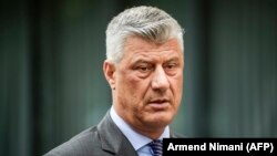 Kosovar President Hashim Thaci has been indicted with others by a prosecutor in The Hague for war crimes and crimes against humanity allegedly committed during or after the 1998-1999 Kosovo conflict. (file photo)