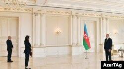 Ադրբեջանի նախագահ Իլհամ Ալիևն ընդունոմ է Ադրբեջանում ՄԱԿ-ի մշտական համակարգող Վլադանկա Անդրեևային, 24-ը օգոստոսի, 2021թ․
