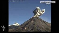 Meksikada vulkan püsgürməsi
