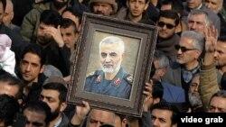 Портрет іранського військового командира Касема Солеймані