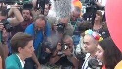Șefa guvernului sîrb și primarul din Belgrad au luat parte la parada LGBT