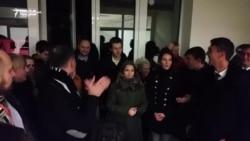 Atmosfera de la sediul PSRM după victoria lui Igor Dodon. Declarația candidatului