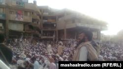 جمعیت علما اسلام نظریاتي د اسامه بن لادن پر وژنه احتجاج کوي