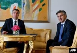 Milanović je potvrdio da za optužnice zna već neko vrijeme, kao i hrvatski premijer Andrej Plenković (fotografija sa jednog od susreta predsjednika i premijera Hrvatske)