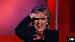Хиллари Клинтон в пылу предвыборных дебатов