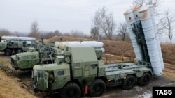 S-300 surface-to-air missile systems are deployed in a military exercise by the Baltic Fleet of the Russian Navy in the Kaliningrad region in January.