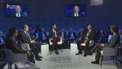 İlham Əliyev Davosda çıxışında yenə də ölkədə azad mətbuat olduğunu deyib