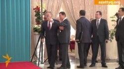 Назарбаев встречает прибывших на саммит СНГ