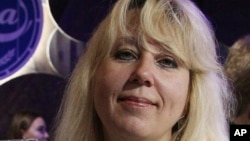 Irina Slavina set herself on fire in October.