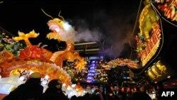 Празднование китайского нового года в Шанхае. Иллюстративное фото.