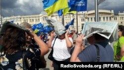 Через дощ антифашистський марш у Харкові тривав 20 хвилин