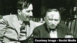 Ștefan Zweig cu Joseph Roth în 1936 (Foto: Getty Images)