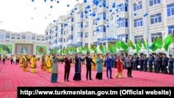 Кадр из программы государственного телевидения Туркменистана