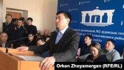 Сырым Әбдірахманов сот үкімін тыңдап отыр. Астана, 1 наурыз 2019 жыл.