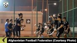 تیم ملی فوتبال افغانستان در حال تمرین